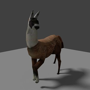 Low Poly Llama 3D Model