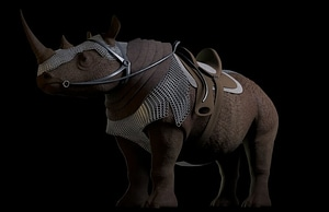Armored rhinoceros 3D Model