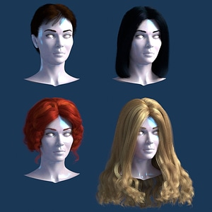 Hair modelo 3D