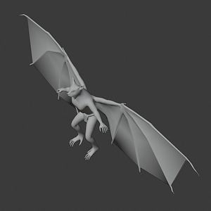 Bat Monster 3D Model