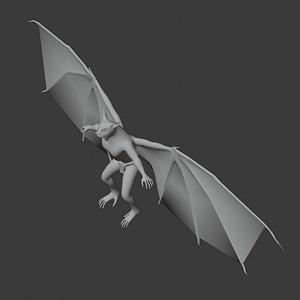 Bat Monster 3D Model