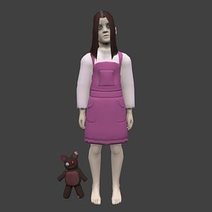 Creepy Girl modelo 3D