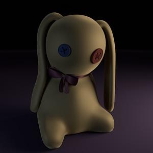 Weird Rabbit Doll 3D Model