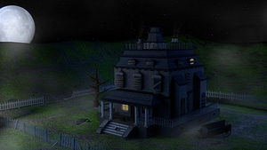 Spooky Hollow House 3D Model