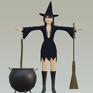 Halloween Witch modelo 3D