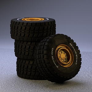 Heavy Machine Tire 3D Model
