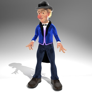 Jimmy Durante modelo 3D