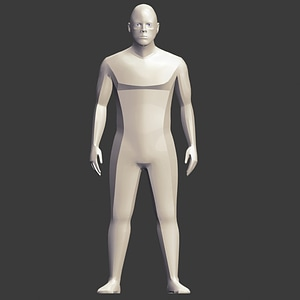 Sharp Edged Man 3D Model