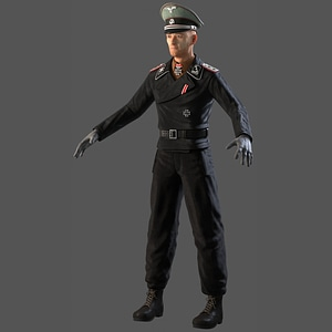 Waffen SS Panzer Captain modelo 3D