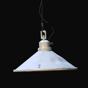 Industrial Lamp 3D-malli