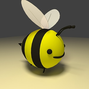 Modello 3D di Cartoon Bee