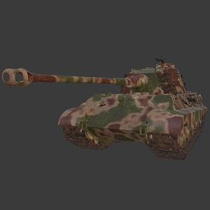 King Tiger Heavy Tank 3D Model