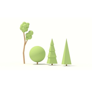 Low Poly Trees 3D Model
