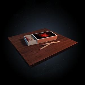 Matchbox & Matchsticks 3D Model