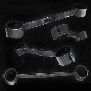 Medieval Handcuffs 3D Model