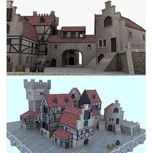 Medieval Seaport 3D Model