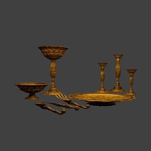 Medieval Tableware 3D Model