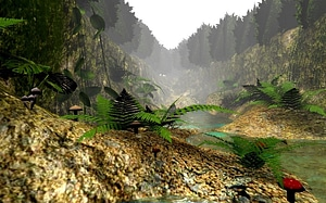 BGE Stream Scene 3D Model