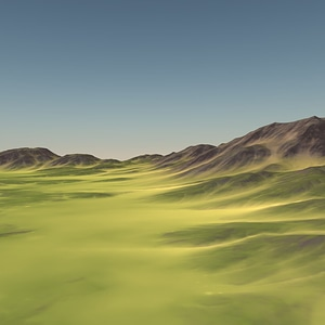 Channelled Land 3D Model