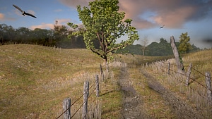 Early Morning on a Country Road 3D Model