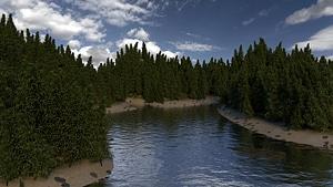 Lake Scene 3D Model