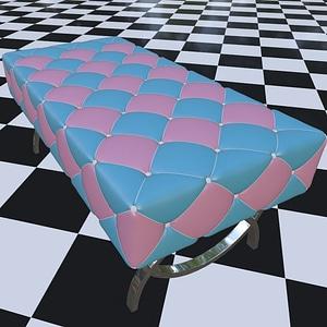 Padded Seat 3D Model