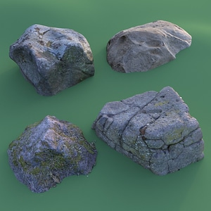 Stone Pack Photoscanned 3D Model