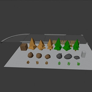 Simple Game Asset 3D Model