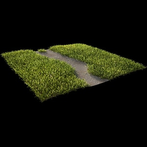 Realistic Grass Path Cycles 3D Model