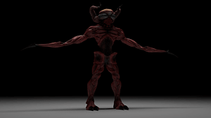 Red Horned Monster 3D Model