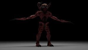 Red Horned Monster modelo 3D