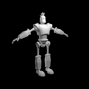 Rigged Robot Giant 3D Model