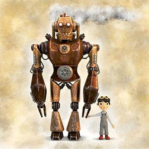 Robot and Boy 3D Model