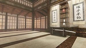 Karate Hall Scene 3D Model