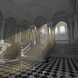 Palace Interior 3D Model