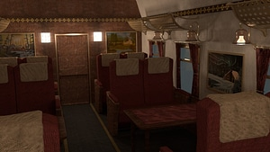 Train Compartment 3D Model