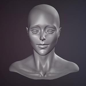 Female Face Sculpt3D模型