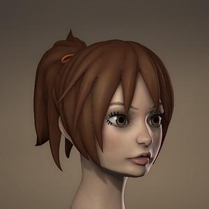 Sculpted Anime Girl Head3D模型