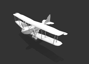 First World War Airplane 3D Model