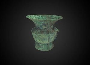 Zun wine vessel 3D Model