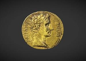Aureus of Augustus 3D Model