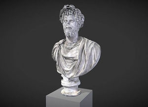 Bust of Septimius Severus Crowned with Oak 3D Model
