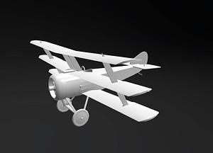 Sopwith Triplane 3D Model