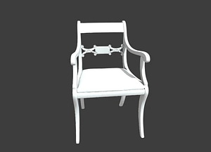Armchair With Slip Seat 3D Model