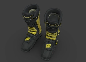 Ski boots worn by Seba Johnson 3D Model