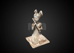 Flute player tomb figure 3D Model