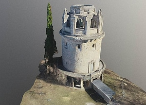 Bismarckturm Jena 3D Model
