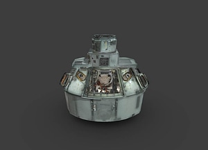 Apollo 11 Command Module Interior 3D Model