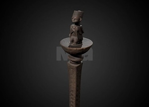 Swahili Staff 3D Model