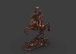 Andrew Jackson Zinc Sculpture 3D Model